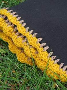 Black fleece baby blanket crochet edging by lailaikids on Etsy,
