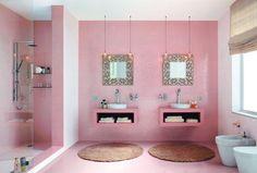 The Decorista-Domestic Bliss: needing. wanting. loving. COLORED BATHROOM TILE