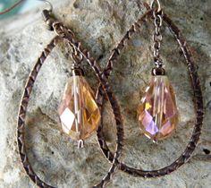 Copper and peach dangles