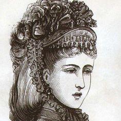 Parisian Hat and Bonnet Fashions Ladies Victorian Engraved Illustration 1871 From Paris France