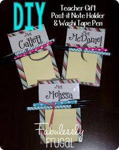 Learn how to make this quick and cute post-it note holder for teacher appreciation week. Your child's teacher will love it!