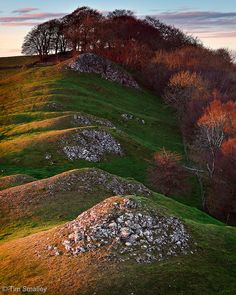 The hills of Bunster Hill, Peak District, Staffordshire, England