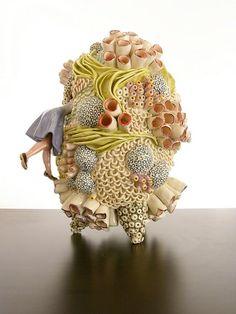 Megan Bogonovich's Ceramic Sculptures Of Oversized Coral Reefs Are Detailed Fairytales