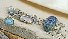 Frolicking  Long Glass & Labradorite Earrings by JewelsByLDesigns, $45.00