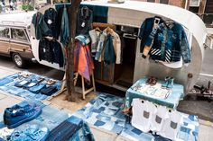 "strangewaysnyc: "" this weekend @ dover street market: the indigo camping trailer … """