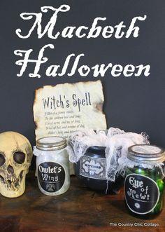 Macbeth Halloween Decor ~ * THE COUNTRY CHIC COTTAGE (DIY, Home Decor, Crafts, Farmhouse)
