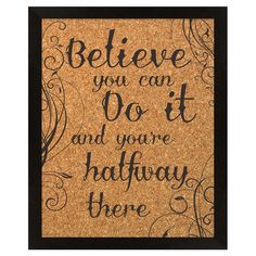 Believe Framed Corkboard