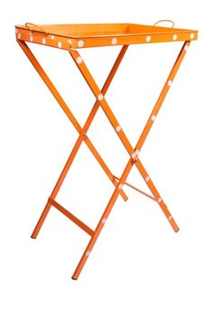 Polka Dot Table Tray in Orange.