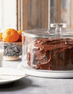 """Nothing mixes up faster than this Easy Chocolate Party Cake, also known as """"dump"""" #cake (dump all ingredients into one bowl, mix, and bake). #recipes"""