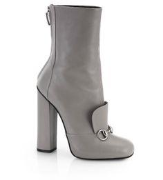 """""""Shoe du Jour"""" 11.13.14 Gucci """"Lillian"""" Horsebit Leather Ankle Boots « Shoefessional"""