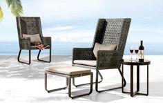 Mar-Tea-Ni Chair with Ottoman
