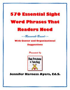 Essential Sight Word Phrases for Fluency