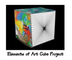 Elements of Art 3-D Cube Project