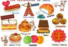 Les pâtisseries de Paris.