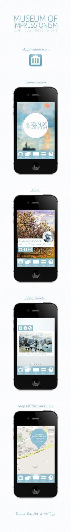 Museum Of Impressionism App Concept - by Denis Korytchenko