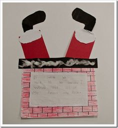 Santa's stuck by Rhonda Greene. Students write what they would do if they found Santa stuck in their chimney
