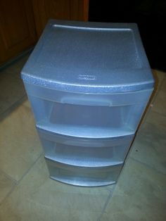 Upgraded plastic storage on pinterest plastic drawers for Painting plastic bins
