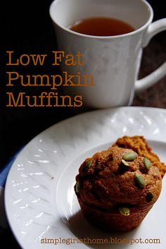 Low fat pumpkin muffins - delicious AND pretty low cal for muffins!