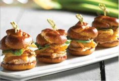 Great for a meal or as an appetizer. Try this recipe for Urban Pork Sliders from The Catering Company