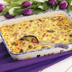 Taste of Home - Ham 'n' Cheese Egg Bake - We make this for our family breakfast on Christmas morning. It's an easy do-ahead recipe and everyone loves it!