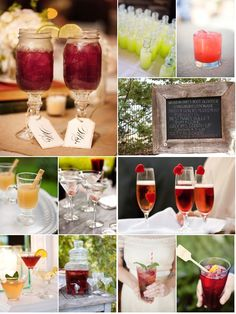 Signature Drink Inspiration ~ from the Style Me Pretty gallery ;)