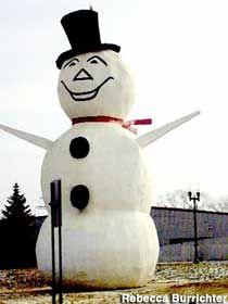 World's Largest Stucco Snowman - North St. Paul, Minnesota: