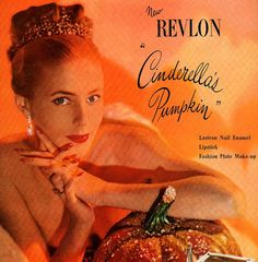vintage pinup cinderella pumpkin 1946 by FrenchFrouFrou on Etsy, $12.95