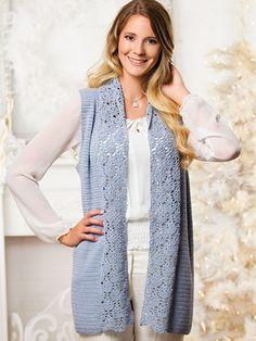 Crochet a winter sweater pattern