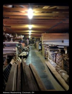 Upstairs wood cache. Hundreds of 1,000's of board feet.