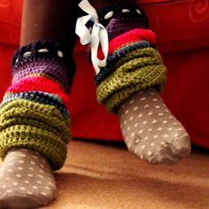Big Crochet Leg Warmers ~ free pattern