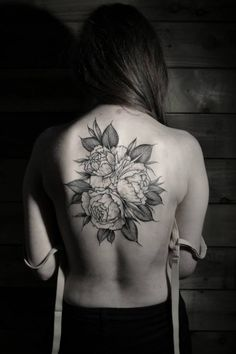 roses by thomas cardiff #back #tattoos