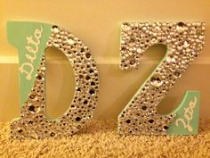these craft letters would be cool to put my initials on my door... not for sorority