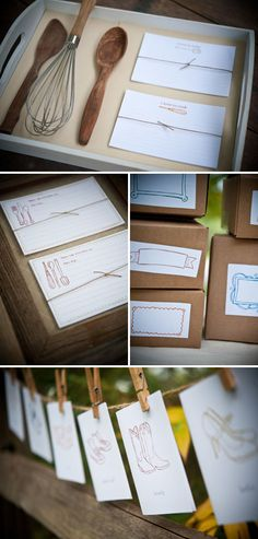 Cooking utensils and handmade recipe cards....nice!