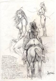 Serpieri pencil sketch/drawing Comic Art eleuteri serpieri, serpieri pencil, comic art, erot art, art inspdraw, pencil sketchdraw, comics, pencils, druuna