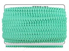 Use Pom Fringe by Cheep Trims to add color and dimension to pillows, curtains, blankets, home decor, handbags, apparel, scrapbooks and more. Attach the Pom Fringe trim by sewing, with brads, eyelets, adhesives and many other choices. Safe for scrapbooking & memory albums. 100% Polyester. 1/4 inch pom pom size, 3/8 inch full height of fringe. 36 yd. Aqua.