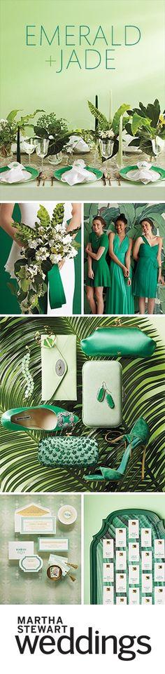 See all of our emerald and jade wedding ideas at marthastewartweddings.com!
