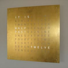 """time-telling by text. It is always easy to understand, whether it spells out """"A Quarter Past Ten"""" or """"It Is Five O'Clock.""""'"""