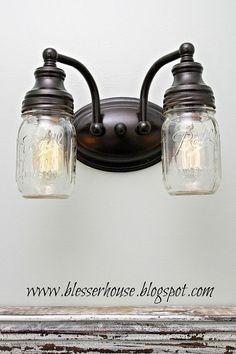 DIY Mason Jar Vanity Light :: Hometalk