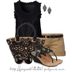 """""""Black and Tan"""", created by jaycee0220 on Polyvore"""