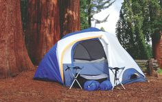 Sportz PAC 95400 includes 2 man tent, rainfly, 2 stools, and 2 sleeping bags that all pack conveniently into a carry bag.