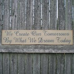 Primitive Wood Sign We Create Our by scaredycatprimitives on Etsy, $15.00