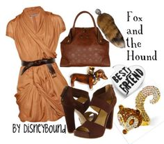 disney movies, hound, disney inspired, outfit, the dress, disneybound, disney bound, foxes, disney fashion