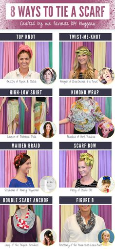 8 Ways to Tie a Scarf   Scarves.net #diy #scarf #howto