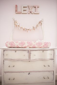 Project Nursery - Annie Sloan Chalk Painted Dresser