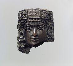 Female head with diadem, Neo-Assyrian, ca 8th c. BCE, Nimrud (ancient Kalhu), Iraq. The Metropolitan Museum of Arts, New York, USA.