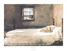 dog pics, andrew wyeth, beds, peaceful places, art prints, master bedrooms, art posters, poster prints, bedroom art