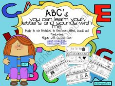 ABCss YOu Can Learn Your Letters and Sounds with Me Ready to Use Printables from Sunshine and Lollipops on TeachersNotebook.com -  (26 pages)  - Printable ready to use sheets that reinforce letter recognition, initial sounds of letters and formation of letters. They are aligned with CCSS. Can be used for Lit Stations, interventions and more.