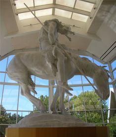Cowboy Hall of Fame, Oklahoma City, Oklahoma.....THE END OF THE TRAIL STATUE. MY HEART BREAKS NO MATTER HOW MANY TIMES I SEE THIS