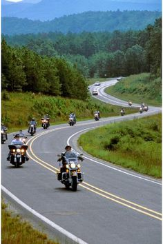 Arkansas  Highway 7 with motorcycles riding