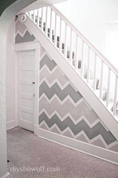 Pretty chevron wallpaper for an accent wall #homeimprovement